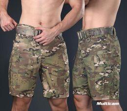 Großhandel Warchief Multicam Schwarz Tropic Tactical Shorts Camouflage Cargo Pants Männer Coyote Brown Wolf Grau (STG051132)