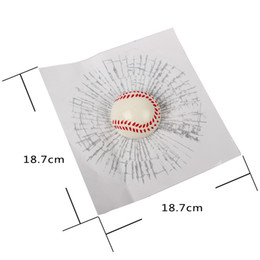 3d ball window sticker online shopping - Hot Auto Decals Ball Hits Car Body Baseball Tennis Football Car Styling D Car Stickers Accessories Window Sticker Funny