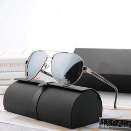 Опт 19940 Высокое качество Поляризованные линзы пилот Модные Солнцезащитные Очки Для Мужчин и Женщин Бренд дизайнер Vintage Спорт Солнцезащитные очки С чехлом и коробкой