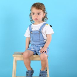 Discount 12 month boys brands clothes - Toddler Baby Boy Girl Jeans Overalls Clothing Brand Infant Jeans Pants Baby Jumpsuits Cotton Denim Broken Hole Trousers