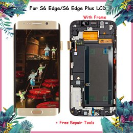 $enCountryForm.capitalKeyWord Australia - ORIGINAL 5.1'' LCD Display for Samsung S6 Edge S6 Edge Plus With Frame 5.7'' Replacement Screen Touch For Samsung LCD Display