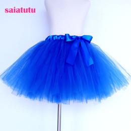 Red White Blue Tutus Australia - sapphire royal blue tulle kids children tutu girl skirt toddler baby costume ball gown party dance wedding short pettiskirt