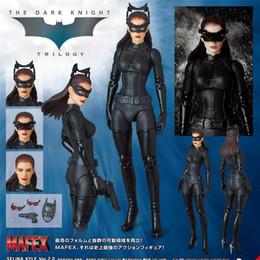 Dark Figures NZ - MAFEX 009 SELINA KYLE Batwomen Batgirl The Dark Night Bat Women in Batman PVC Action Figure Collectible Model Toy 17cm