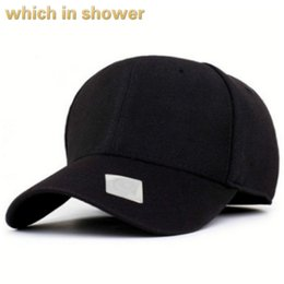 2daca203a3c blank fitted cap for men solid baseball cap hip hop spring autumn snapback  hat casual old male bone drop shipping