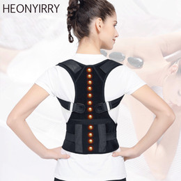 Magnet Support Australia - Top Adjustable Magnet Posture Corrector Back Corset Belt Straightener Brace Shoulder Corrector De Postura Braces Supports
