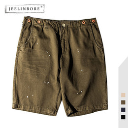splash clothes 2019 - JEELINBORE Summer New Fashion Man's Casual Shorts Cotton Loose Solid Color Splashing Ink Printing Hip-Hop Male Clot