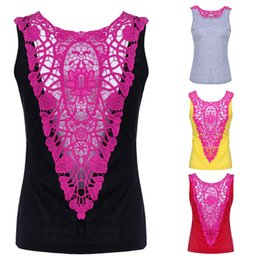 592cd31aa7c897 Women s summer new style short sleeve slim sexy back lace t bang stitching hollow  vest casual clothes