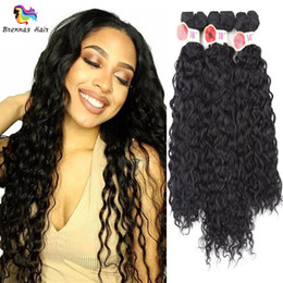 $enCountryForm.capitalKeyWord Australia - synthetic hair bundles for black woman 6pcs pack for full head synthetic hair extension deep wave jerry curly ombre color best quality