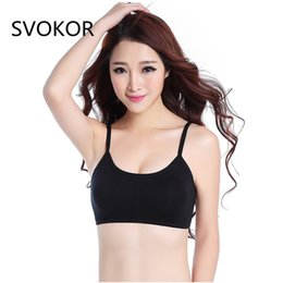 576c1f3843 SVOKOR Bras for Women 8 color 2018 New Fashion Sexy Solid Color Chest Pad Lace  Strap Cross Hollow Modal Bra bras for Large Sizes