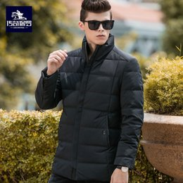 Duck Parka Man Canada - Plus Size White Duck Down Long Jacket Men Thicken Warm Varsity Jacket Autumn Winter Windbreak Parka Slim mens Fit Casual Outwear