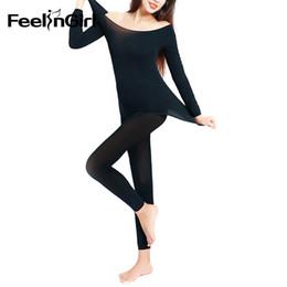 9f7fbc6f09 Feelingirl Autumn Winter Warm Thermal Underwear Set 37 Degree Women Long  Johns Super Elastic Couples Ultrathin Thermal Underwear