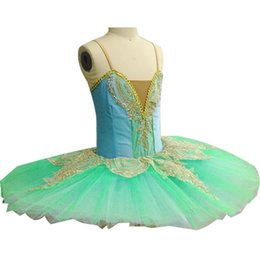 $enCountryForm.capitalKeyWord UK - Professional White Swan Lake Ballet Tutu Costume Girls Children Ballerina Dress Kids Ballet Dress Dancewear Dance Dress For Girls Green 005