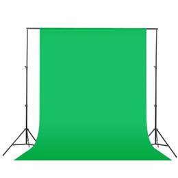 Venta al por mayor de Fondo negro verde blanco 1.6x3m / 2mx3m Fondo de fondo Sistema de soporte Sistema de soporte Kit de pantalla no tejida Fotografía de fondo fotográfico