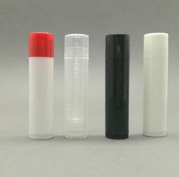 Refillable Lipstick NZ - 4.2g Plastic Lipstick Tube Refillable Bottles Empty Lip Balm Tube For Cosmetic Packing