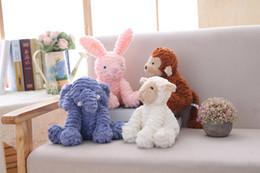 lifelike child dolls 2019 - Bunny Stuffed Plush Animal Baby Rabbit Elephant unicorn lifelike toy Plush Soft kawaii for children girls dolls stuffed