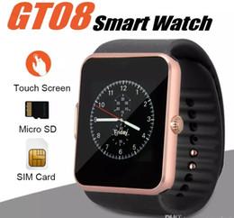 Smart Watch GT08 Bluetooth con ranura para tarjeta SIM y NFC Health Watchs para Android Samsung e IOS Apple iPhone Smartphone pulsera Smartwatch