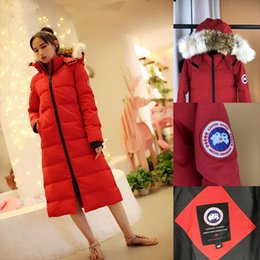 $enCountryForm.capitalKeyWord NZ - 2018 New Fashion Winter jackets and coat Down Jacket Hooded Cotton Fur Collar long coat Women Warm Outwear Plus Size hat (wolf hair)