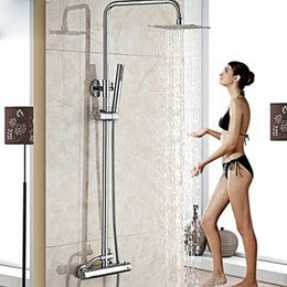 $enCountryForm.capitalKeyWord NZ - Wall Mount 10 inch Thermostatic Bathroom Shower Faucet Mixer Taps Dual Handle with Hand Held Shower Chrome Finish