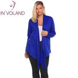 316d36eeb70885 IN VOLAND Oversized 4XL Women s Cardigan Large Long Sleeve Coat Open Front  Draped Irregular Casual Loose Sweater Tops Plus Size