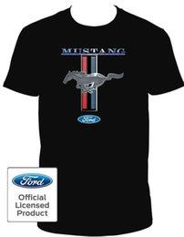 Опт FORD MUSTANG спереди назад с коротким рукавом круглый вырез футболка официальный лицензированный изображение одежда футболка тренажерный зал одежда