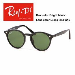 913d863f00e92 Round Sunglasses Women Vintage Glass Lens Eyewear Coating Mirror Sunglasses  For Men Retro Ladies Sunglasses UV400 Shades Male