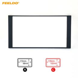 Discount car stereos installed - FEELDO Car Radio Stereo 2DIN Fascia Panel Refitting Frame Facia Trim Install Mount Kit For TOYOTA Camry PREVIA VIOS CORO