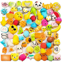 rare squishies cell UK - Kawaii Food Squishies Bun Toast Donut Bread cell phone Bag Charm Straps pendant Rare Squishy slow rising lanyard scented toys AAA1023