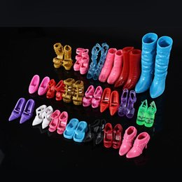 $enCountryForm.capitalKeyWord NZ - 12pair Packing PVC Colorful Doll Shoes No Repeated For s Girls Accessories Parts Fashion High-Heeled Kids Toys Gifts