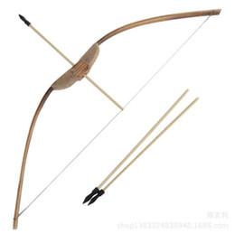 e2f5a7cdd 70 cm Arcos y flechas Set Niños nostálgicos Niños Juguete de madera Armas  tradicionales Interesante Diviértete Juguetes Tendencia Moda Regalo