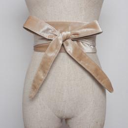 Women Velvet Clothes Australia - LANMREM 2018 New Fashion Velvet Waistband Bandage Bow Belt All-match Velet Girdle Female's Clothing Accessories YF200