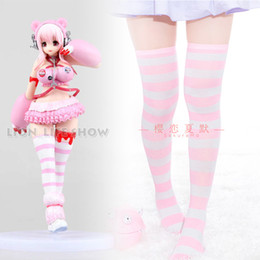 Wholesale sexy super women cosplay online – ideas Women Sexy Super Sonico White Pink Bear Gloomy RacingVer Stockings Cosplay Accessor