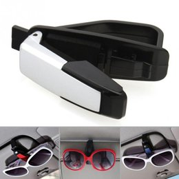 00fc8cdac0d Portable Fastener Cip Eyeglasses Clip Ticket Card Clamp ABS Car Glasses  Cases Black Car Sun Visor Sunglasses Holder
