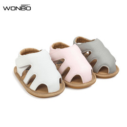 Discount summer sandals new design - 2018 New Design WONBO Baby Sandals Cute Boys Girls Summer Clogs Soft Toddler Shoes 3 Colors