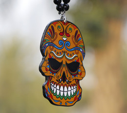 skull car accessories 2021 - Car Pendant Flower Skeleton Skull Totem JDM Hip Hop B-Box Automobile Rear View Mirror Charms Hanging Ornaments Home Decoration