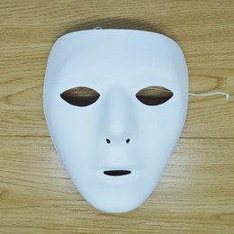 Full White Face Mask Woman Australia - Hand Painting DIY Plain White Masks Women Men Thicken Paper Pulp Full Face Mask for Christmas Wedding Birthday Decoration