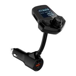 Mp3 QC3.0 Bluetooth цифровой дисплей автомобильное зарядное устройство fm Bluetooth передатчик MP3-плеер