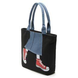 39891baeae56 handbags casual New Women Messenger Bags Lady Canvas Cartoon Denim Skirt  Printed Shoulder Bags Large Capacity Female Handbags Casual Tote