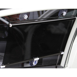 Sun Side online shopping - 40 x CM Car Curtains Sun Shade For Side Window UV Protection Auto Interior Accessories Black Car Styling Folding Sunshade