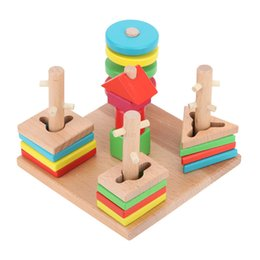 $enCountryForm.capitalKeyWord Australia - Blocks Wooden Building Block Baby Gift Geometry Cognitive Matching Toy ,Fun Block Board Game Toy ,Wooden Educational Toy For Children