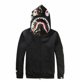$enCountryForm.capitalKeyWord UK - Fashion Men's Women's Red Grey Black Casual Cashmere Sweater jacket Hedging Cardigan Shark Hooded Lovers Sweatshirts Hoodies For Men Women