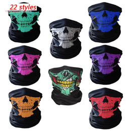 mask for bicycle Australia - Halloween Mask Festival Skull Skeleton Half Face Masks Outdoor Ski Motorcycle Bicycle Headband Neck Warmer Ghost Mask Scarf Party Supplies