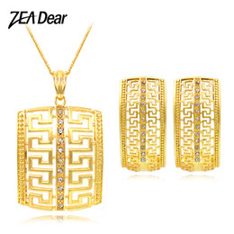 $enCountryForm.capitalKeyWord NZ - ZEADear Jewelry Square Jewelry Sets Women Earrings Necklace Pendant For Party Daily Dubai Fashion Wedding Birthday Gifts