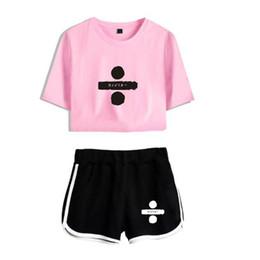 Pink Clothing Women UK - Hip Hop Ed Sheeran Short Sleeve T-shirt and Shorts Kawaii Women Men 2018 Kpop Casual Print Harajuku Clothes Plus Size