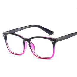 e539bc8e42 Fashion Anti-Blu-Radiatio retro Computer Eye Glasses Frames Women Men Anti- blue Protection Flat Mirror Eyewear Frame Optical Eyeglasses