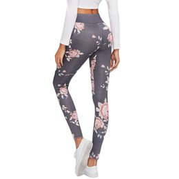 tight sexy yoga pants 2019 - Sport Leggings High Waist Compression Pants Gym Clothes Floral Print Sexy Running Yoga Tights Women Fitness Yoga Pants c