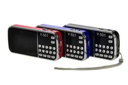 L tf speakers online shopping - New Fashion L Portable HIFI Mini Speaker MP3 Audio Music Player FM Radio Loudspeaker with Flashlight USB AUX TF