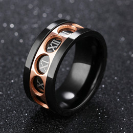 roman numerals ring wholesale UK - European And American Jewelry Domineering Personality 12 Roman Numerals Rings Can Be Turned Ring Adjustable Support FBA Drop Shipping G880F
