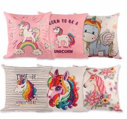 $enCountryForm.capitalKeyWord Canada - 40 Style 45*45cm Pillow Case Baby DIY Unicorn Party Decoration For Home Wedding Birthday Decor Party Supplies TO716