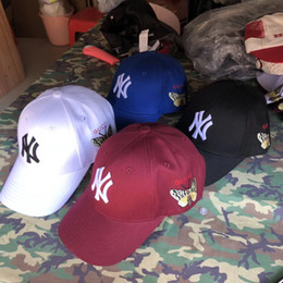Großhandel Schmetterlings-Hut-Reiher-Preston DSNY-Veteranen NY-Hut-Stickerei-Baseballmütze-Schnalle Baseballsport-gosha Kappe Hip Hop-Hut 888