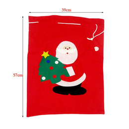 large feet 2018 - Santa Claus Bag Gift Bags Christmas Decorations Large Number Red Cozy Sack Chlidren Favour Joy Presents Gifts 5bx gg che